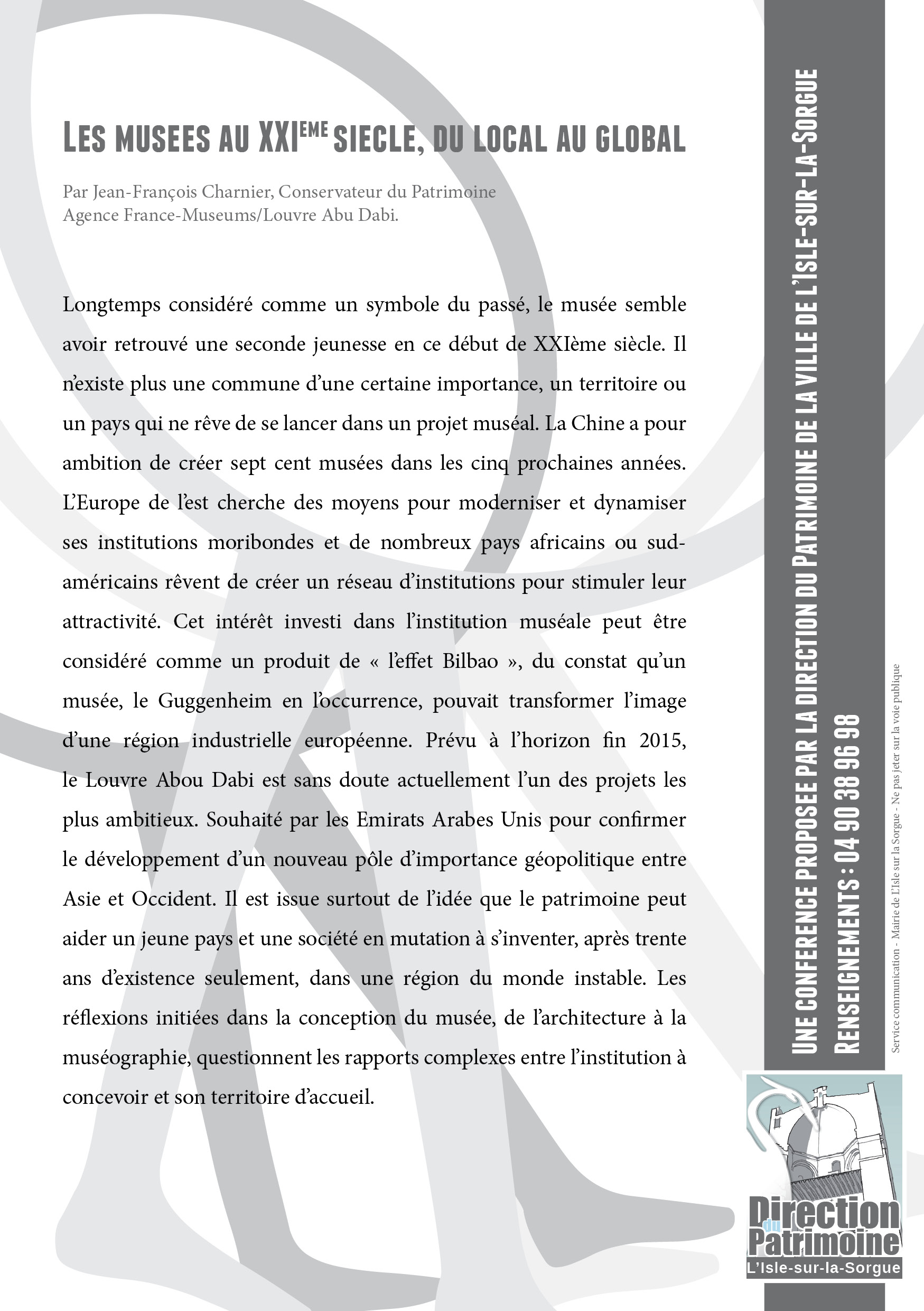 flyer MUSEES AU XXIe SIECLE (1)