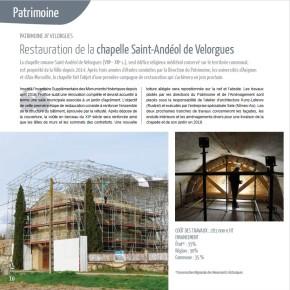 L'actualité de la Direction du Patrimoine dans L'Isle-sur-la-Sorgue – Magazine en 2017