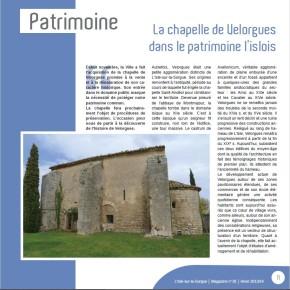 L'actualité de la Direction du Patrimoine dans L'Isle-sur-la-Sorgue – Magazine en 2014
