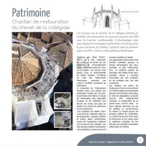 L'actualité de la Direction du Patrimoine dans L'Isle-sur-la-Sorgue – Magazine en 2016