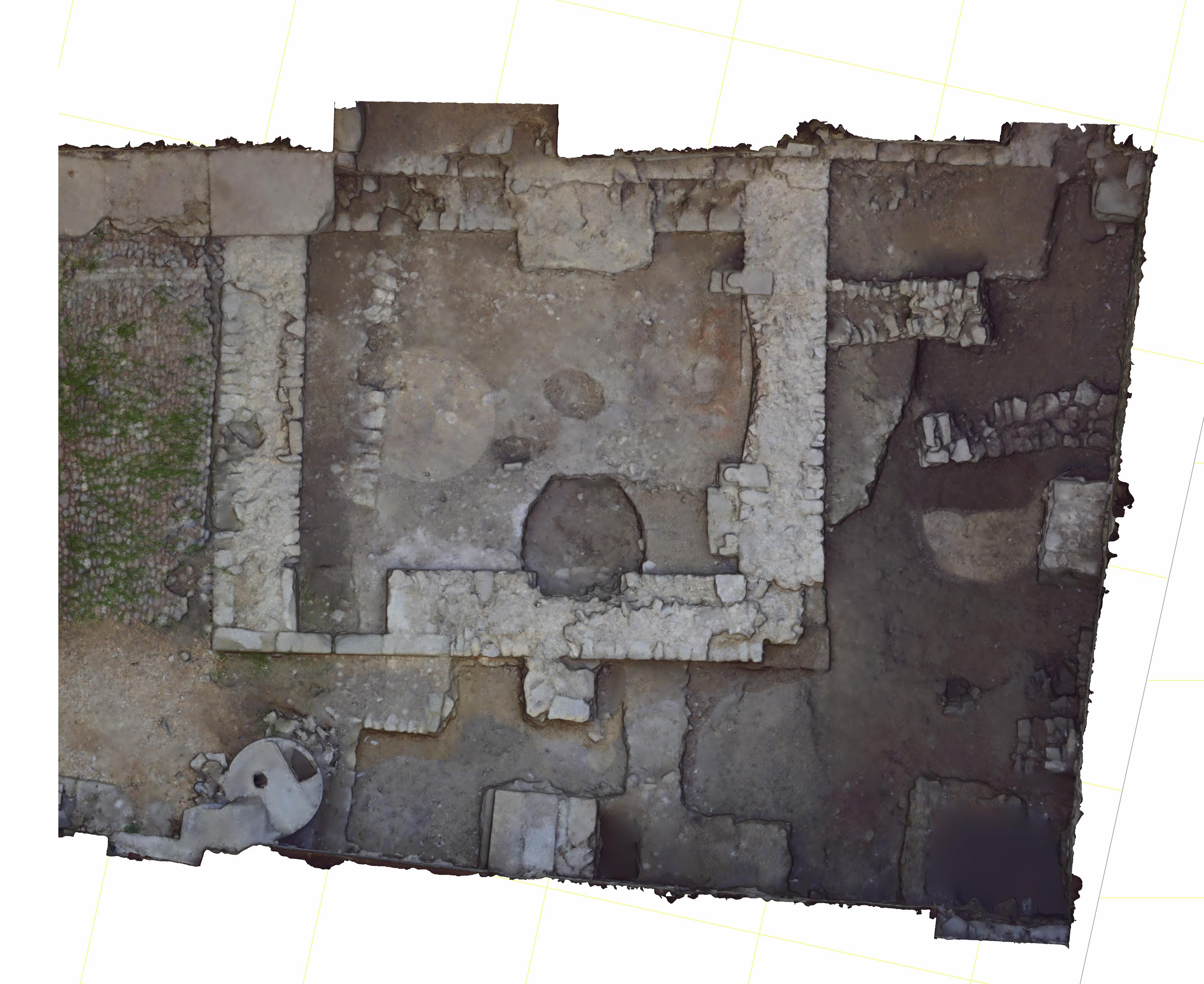 Scan 3D de la fouille de la cour de l'Hotel de Brancas