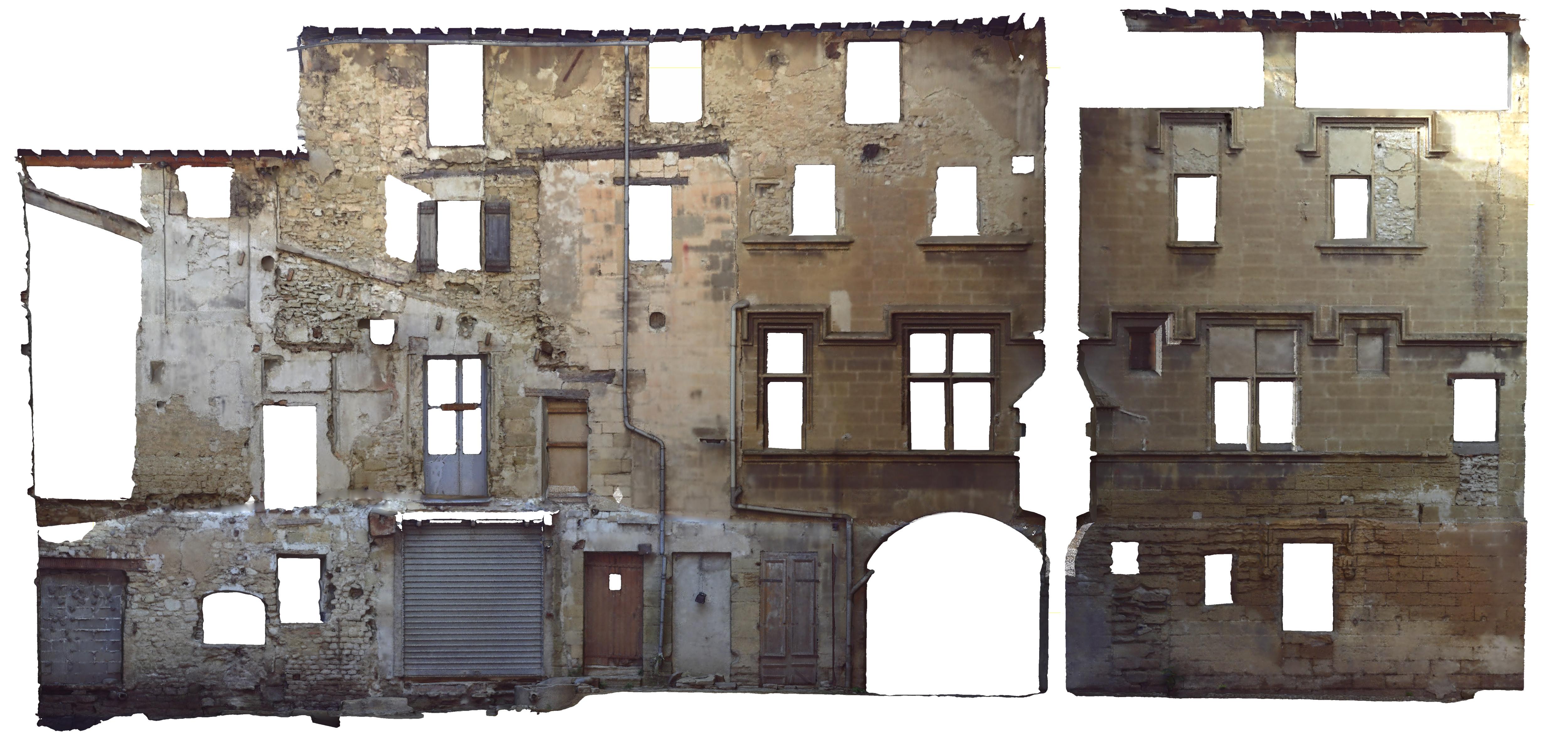Scan 3d des façades sur cour de l'Hotel de Brancas - AFT Topo