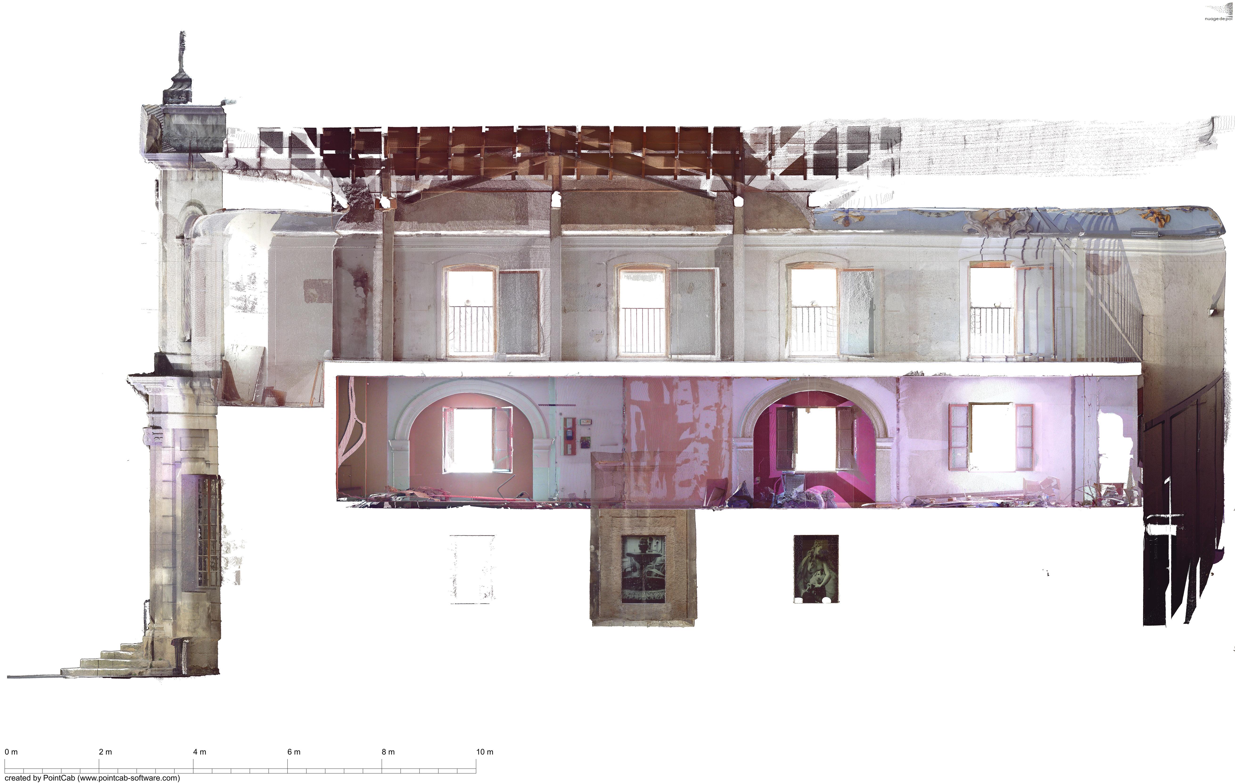 coupe_longitudinale de la chapelle - NuageDePoints