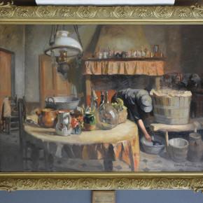 Restauration d'un tableau de Claude Firmin