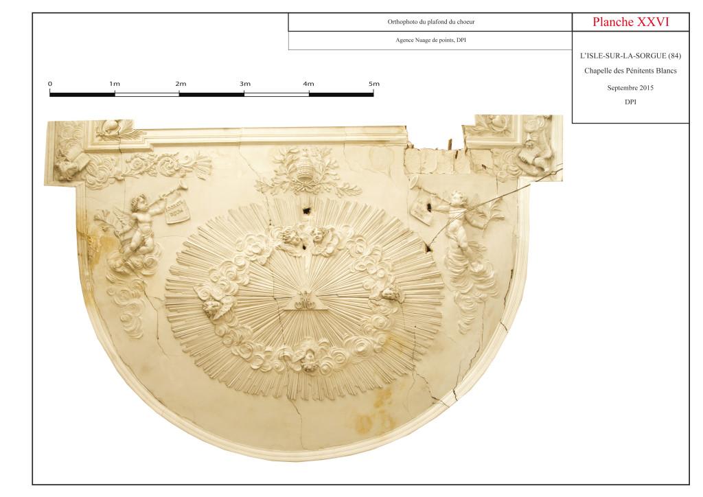 Orthophotographie du plafond du chœur