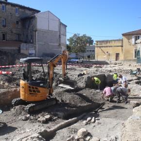 Fouille d'archéologie préventive du garage Manni (ancien couvent des Dames de Sainte-Elisabeth)